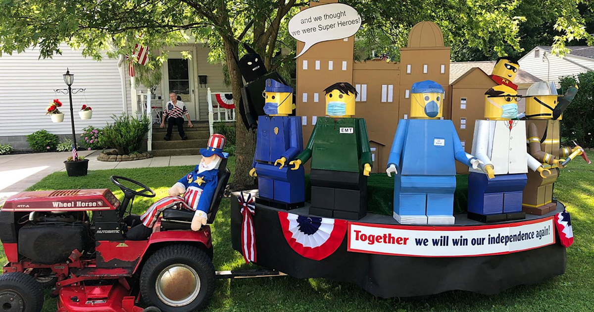Man builds Fourth of July float dedicated to health care workers