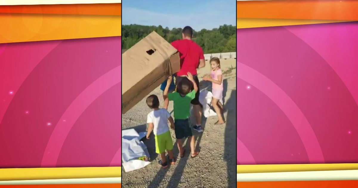 www.today.com: Kids unwrap present to find their military dad inside