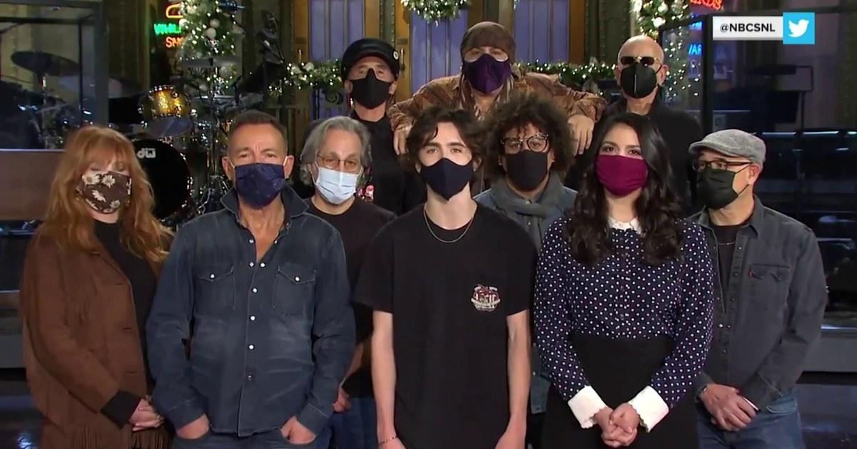 'SNL' returns with Timothée Chalamet and Bruce Springsteen
