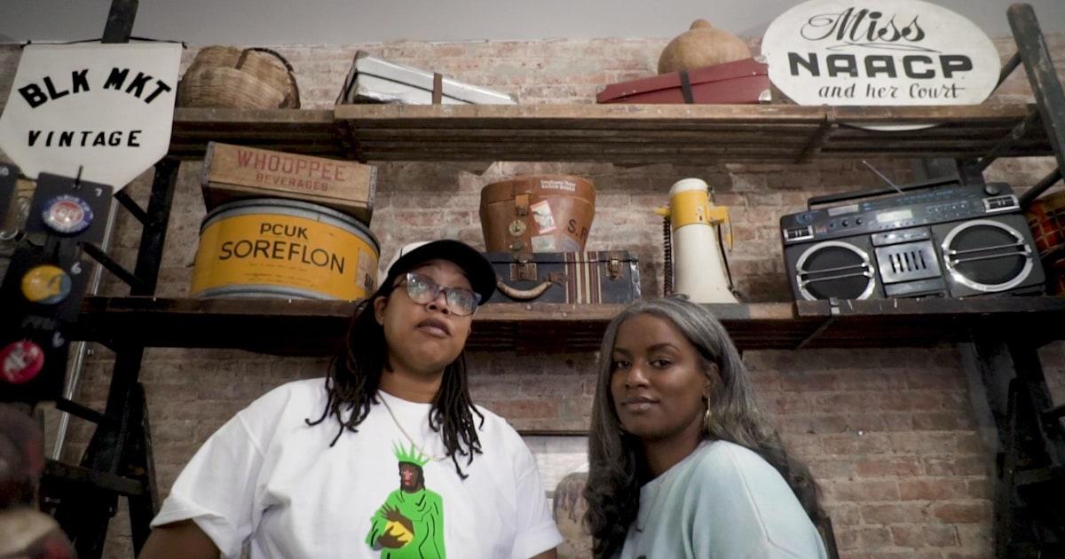 Entrepreneurs Kiyanna Stewart and Jannah Handy own a shop dedicated to black antiques