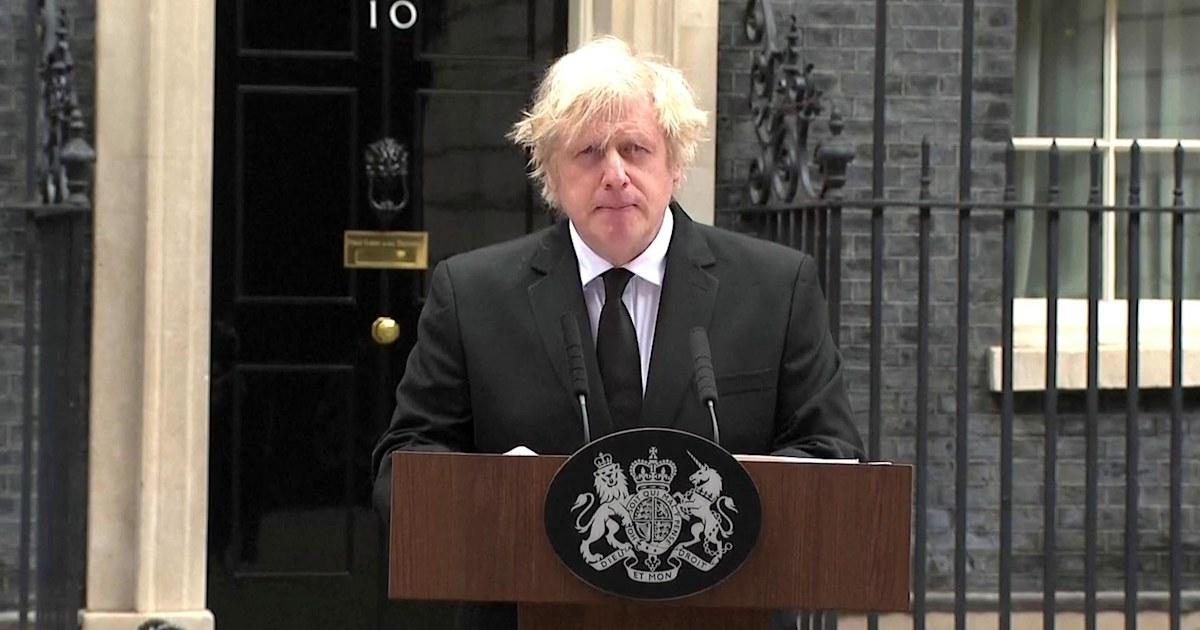 British Prime Minister Boris Johnson addresses death of ...