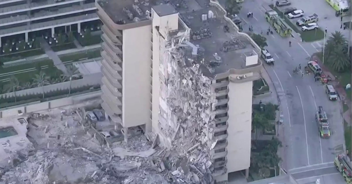 Rescuers search for survivors after building collapse near Miami Beach