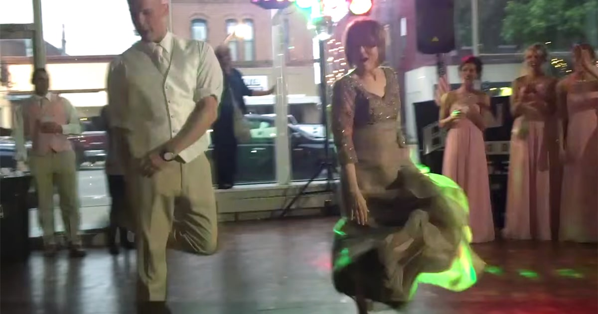 Mom And Son Wedding Dance Off Is Amazing