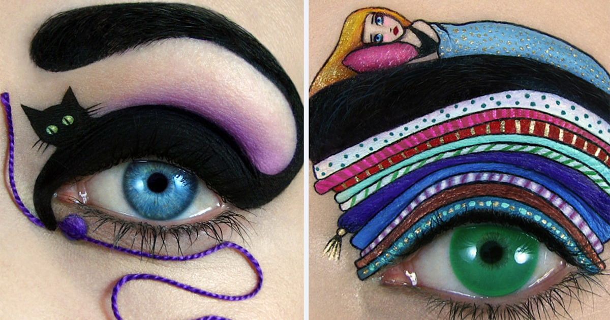 Don't blink! This amazing eye makeup art will blow you away