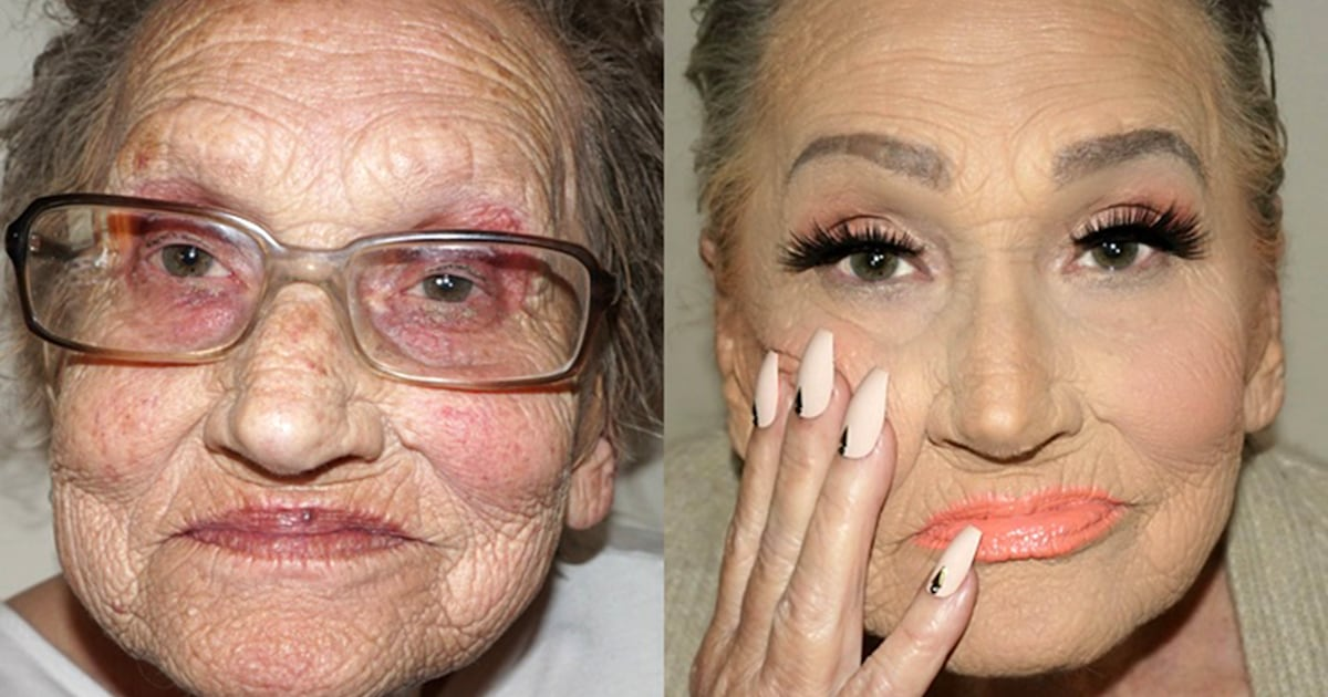 Tea Flego's Grandma Livia gets an incredible makeup transformation Meet Glam-Ma! See this 80-year-old's incredible makeup transformation - 웹