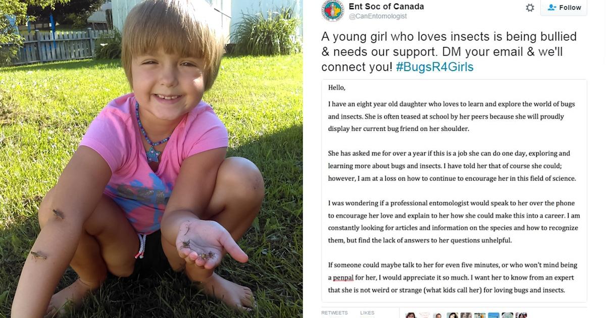 #BugsR4Girls: See how scientists inspired bullied, bug-loving girl