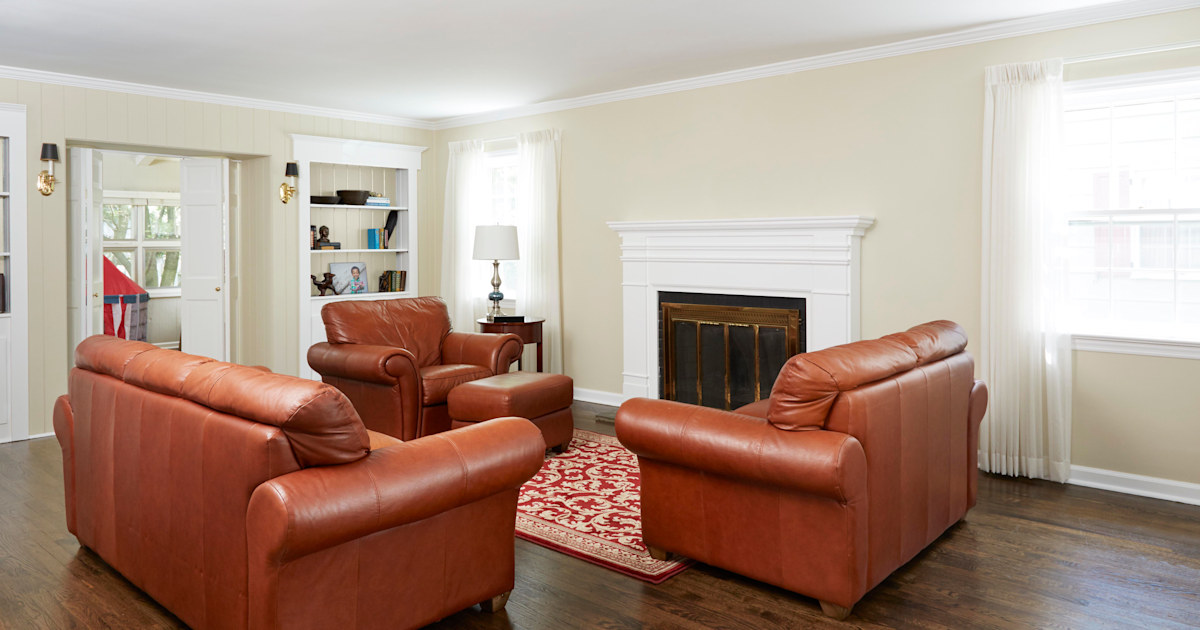 Afraid of color? This living room transformation will change your mind