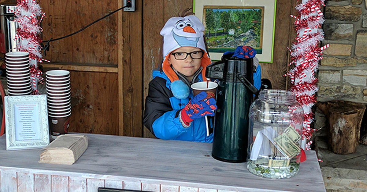 The reaction to her son's hot cocoa stand showed mom 'God's love'