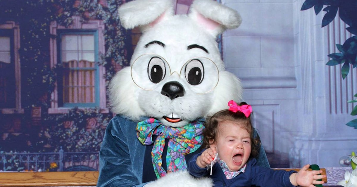 'One we will never forget': Funny photos of kids with the Easter Bunny