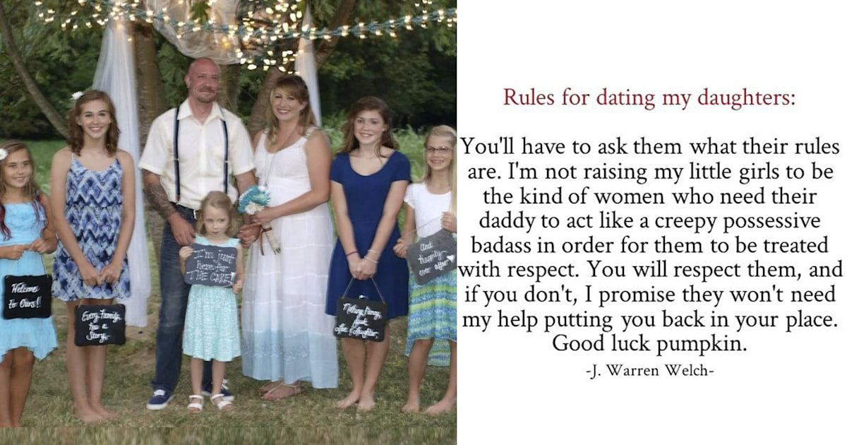 Dad shared rules for dating his daughters with a feminist twist - INSIDER