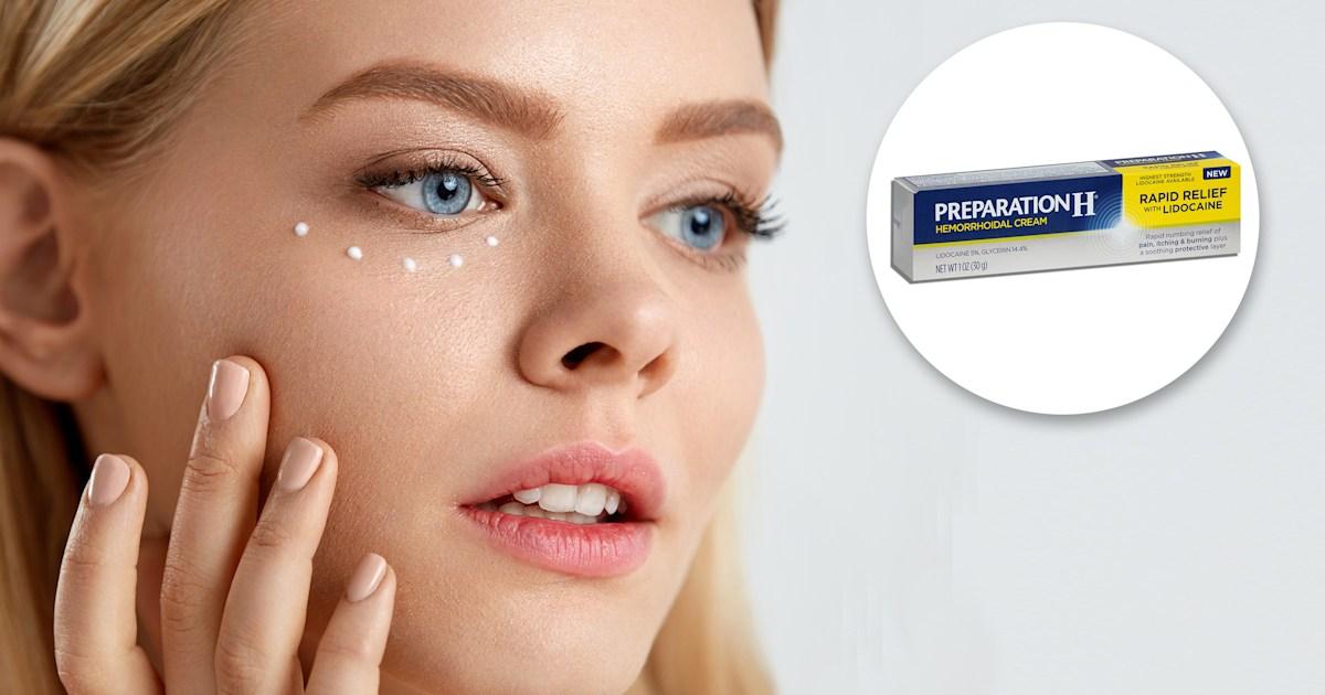 Hemorrhoid cream has weird benefits for under-eye area