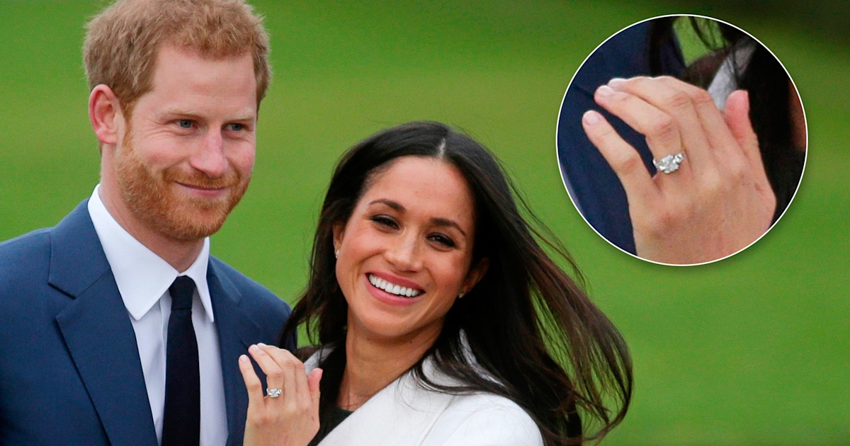prince harry designed meghan markle s engagement ring with his mother s diamonds prince harry designed meghan markle s
