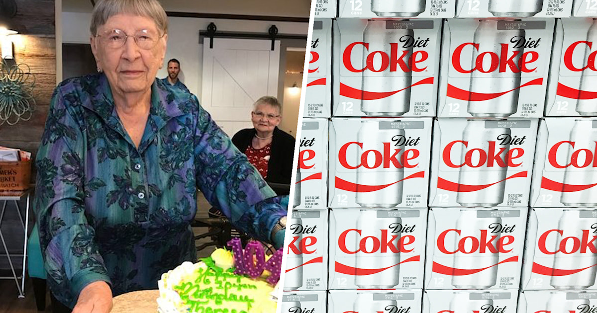 104 Year Old Woman Loves Drinking Diet Coke Every Day