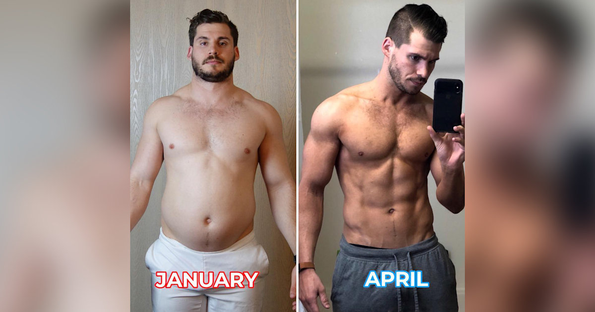 This time-lapse video shows how one man lost 42 pounds in 3 months