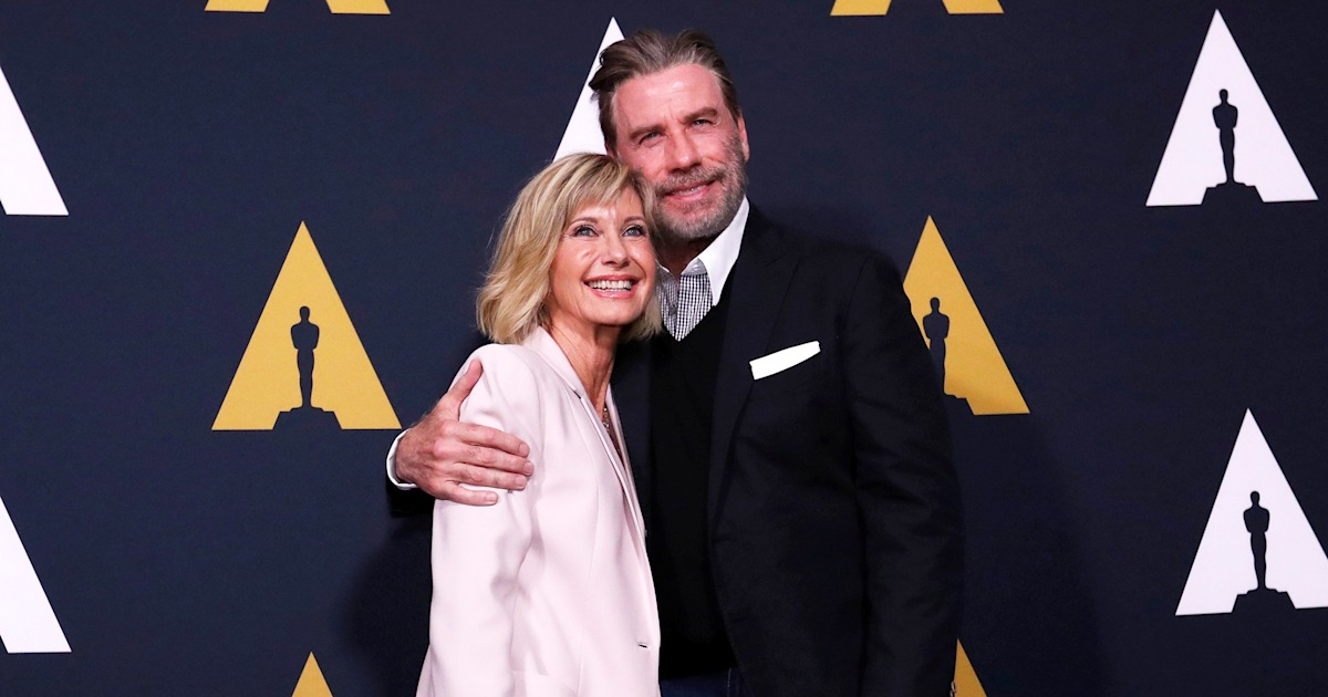 John Travolta, Olivia Newton-John bust a move at 'Grease' event