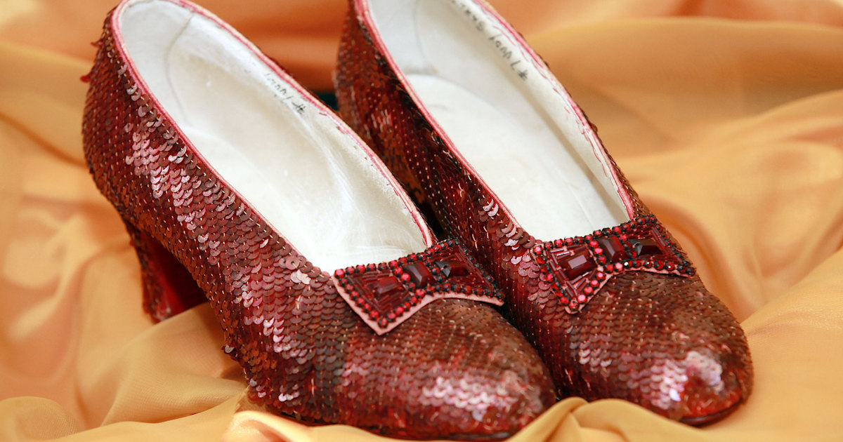 0352044b5 Dorothy's ruby red slippers, stolen 13 years ago, have been found