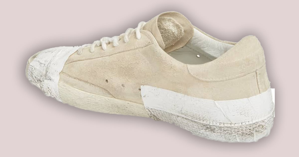 Golden Goose taped sneakers accused of