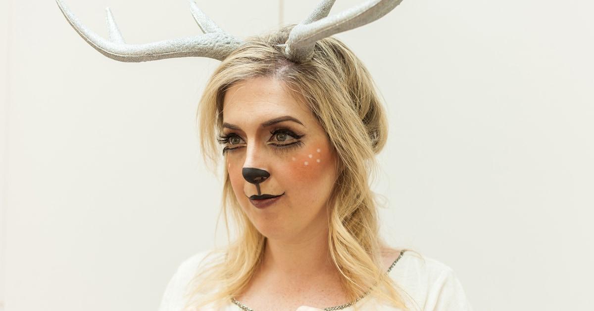 Halloween Makeup Tutorial Try This Easy Deer Costume - Halloween-makeup-tutorial