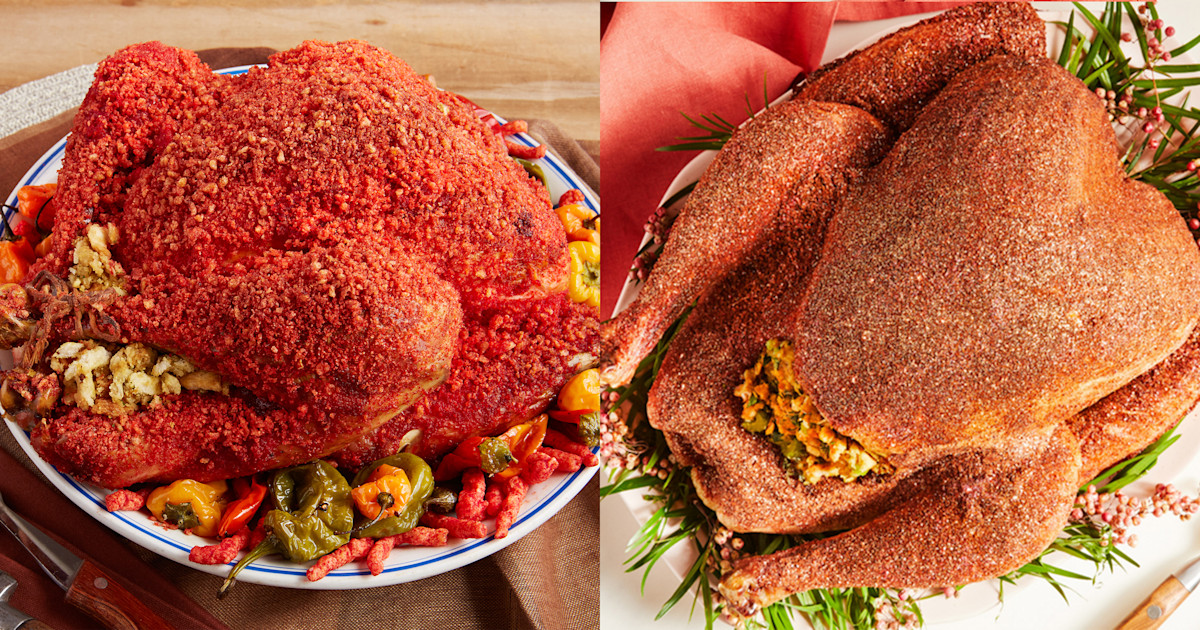 The internet can't get enough of this Flamin' Hot Cheetos Thanksgiving turkey