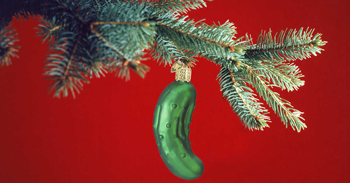 What Is The Christmas Pickle Tradition And Where Does It
