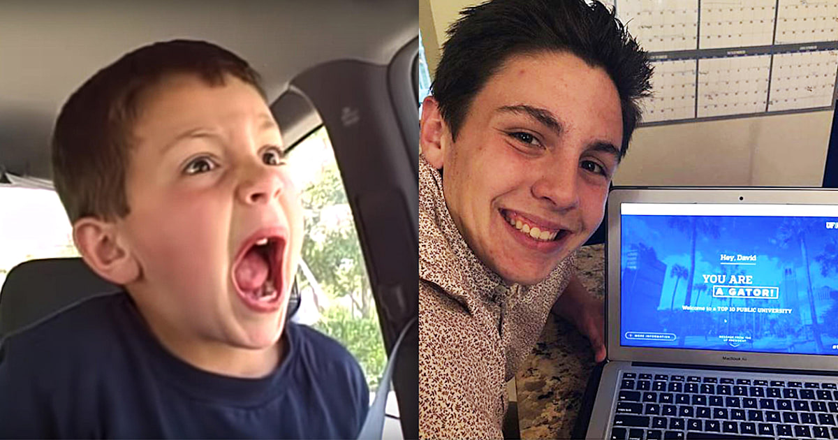 'David After Dentist' kid David Devore is going to college