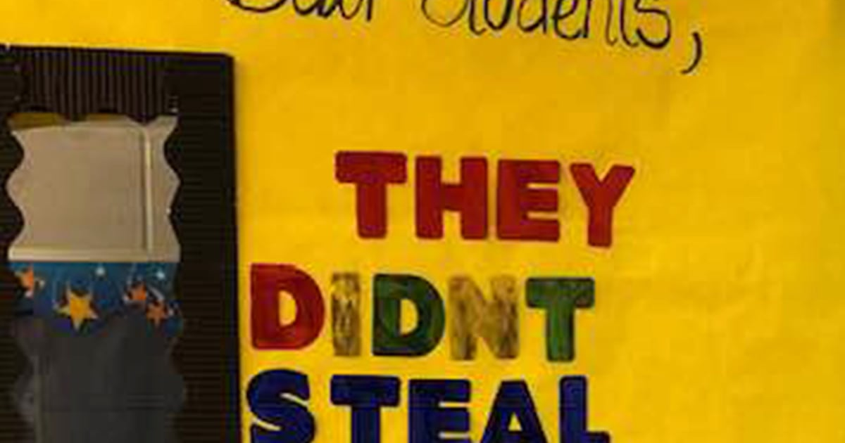 Teacher's door decoration for Black History Month goes viral