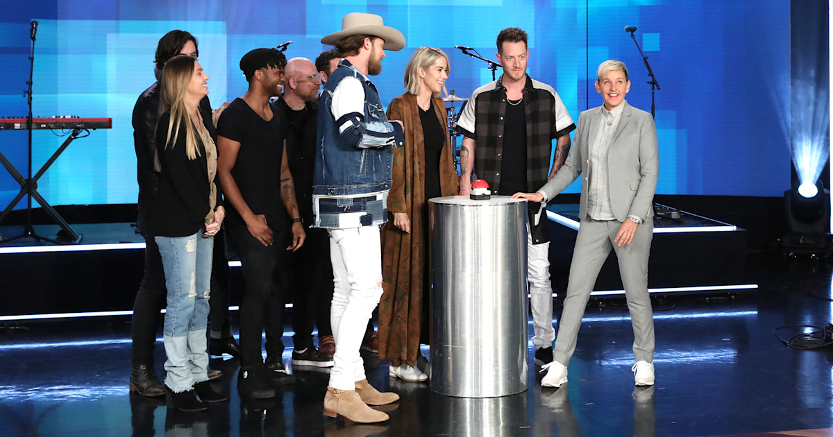 Ellen helps Florida Georgia Line star learn sex of baby No. 2 — watch the video