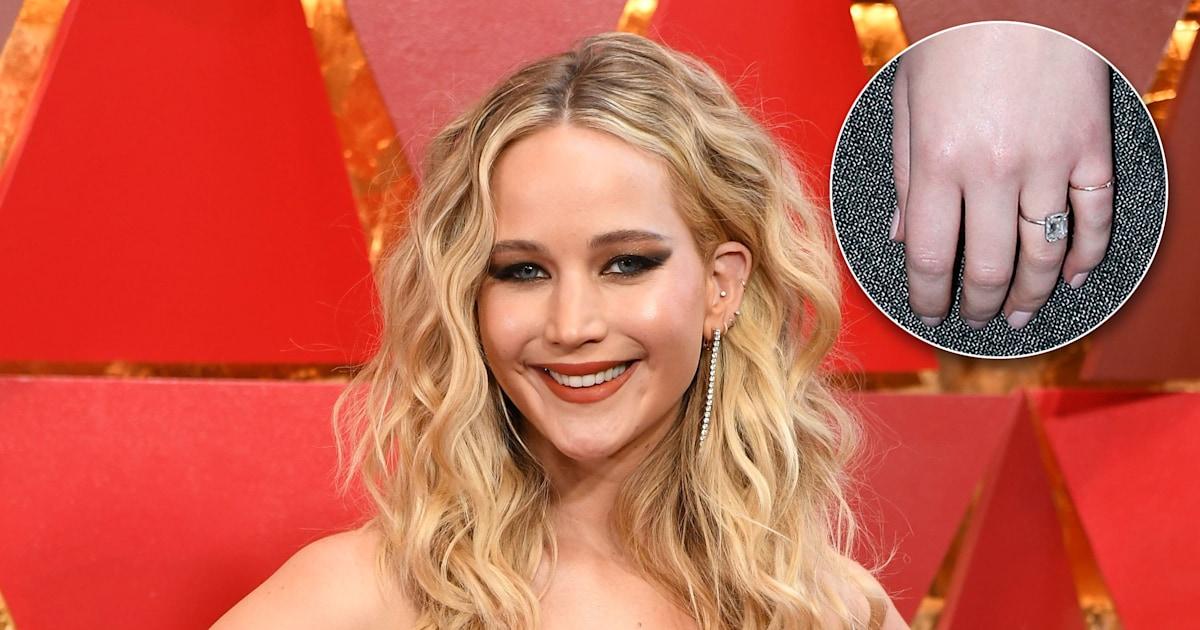 Jennifer Lawrence debuts her engagement ring at Paris ...