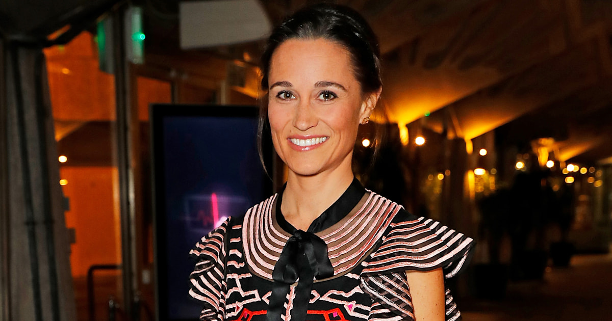 Pippa Middleton glows in 1st official appearance since giving birth