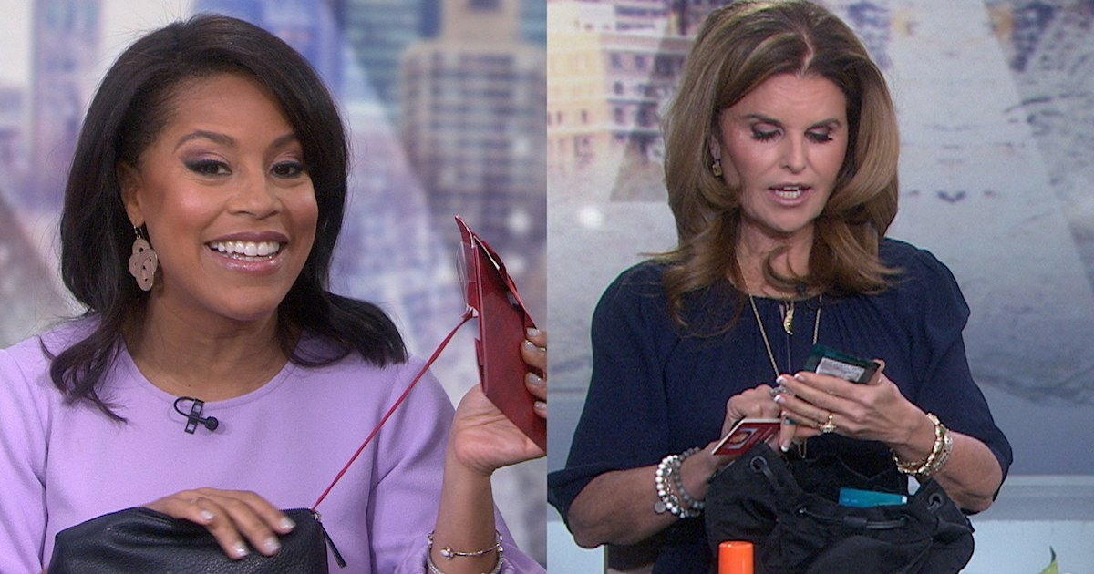 See Sheinelle Jones and Maria Shriver spill what they keep in their purses