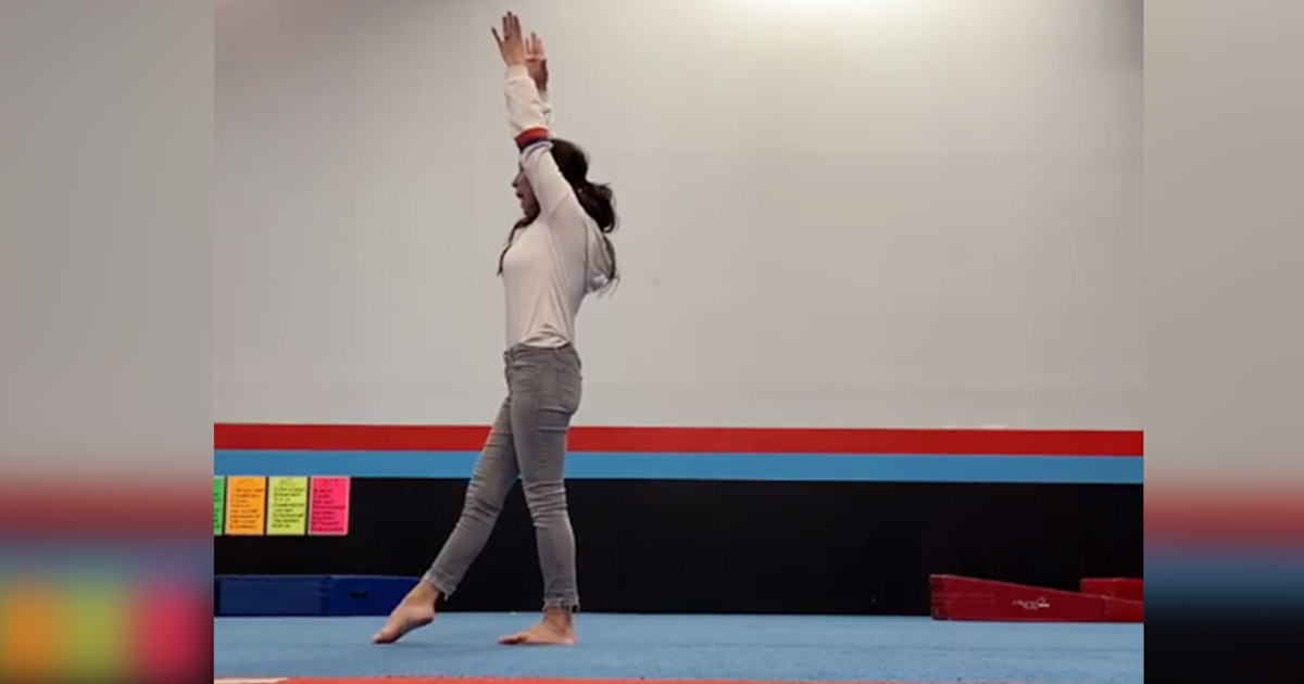 Watch Joanna Gaines attempt (and fail) to perform a gymnastics move
