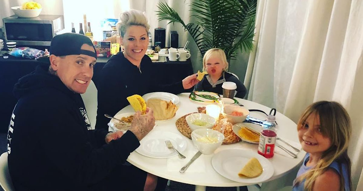 Pink fires back at fan who criticized her for sharing private family photo from tour