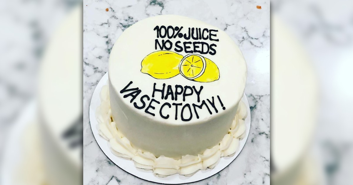 Vasectomy cakes are a hilarious trend — and they're becoming more popular