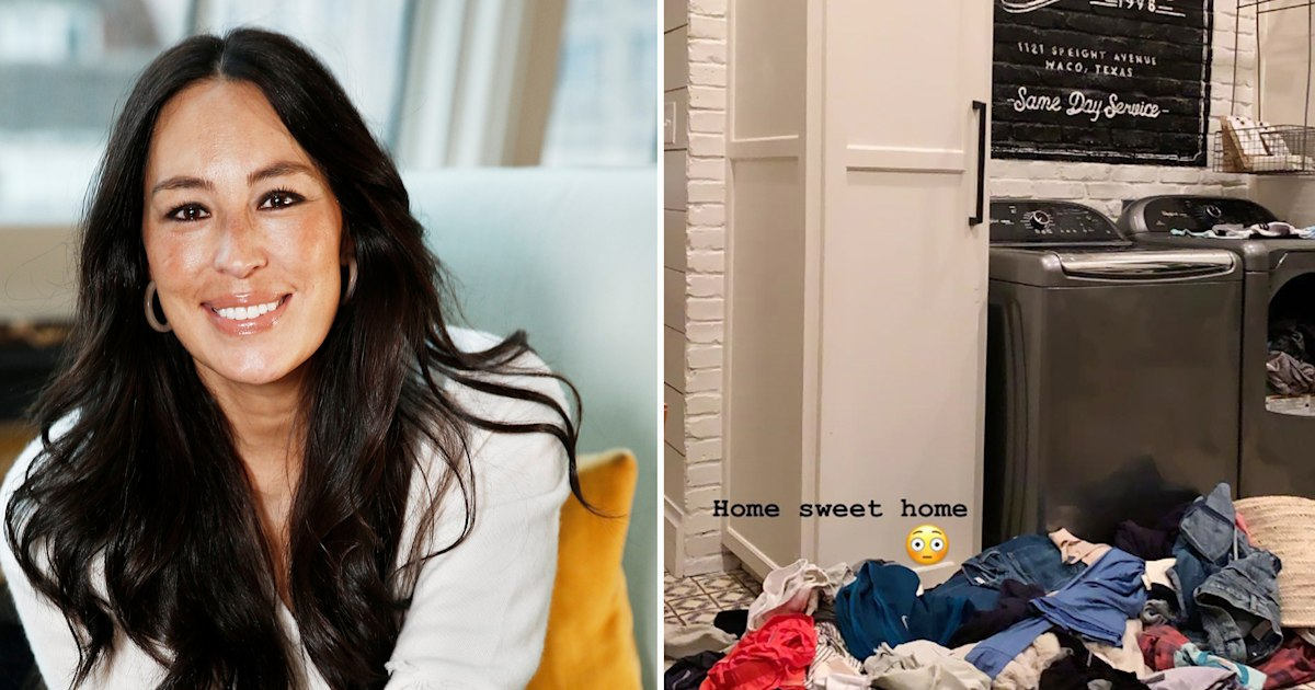 Joanna and Chip Gaines' post-vacation laundry pile is bigger than yours