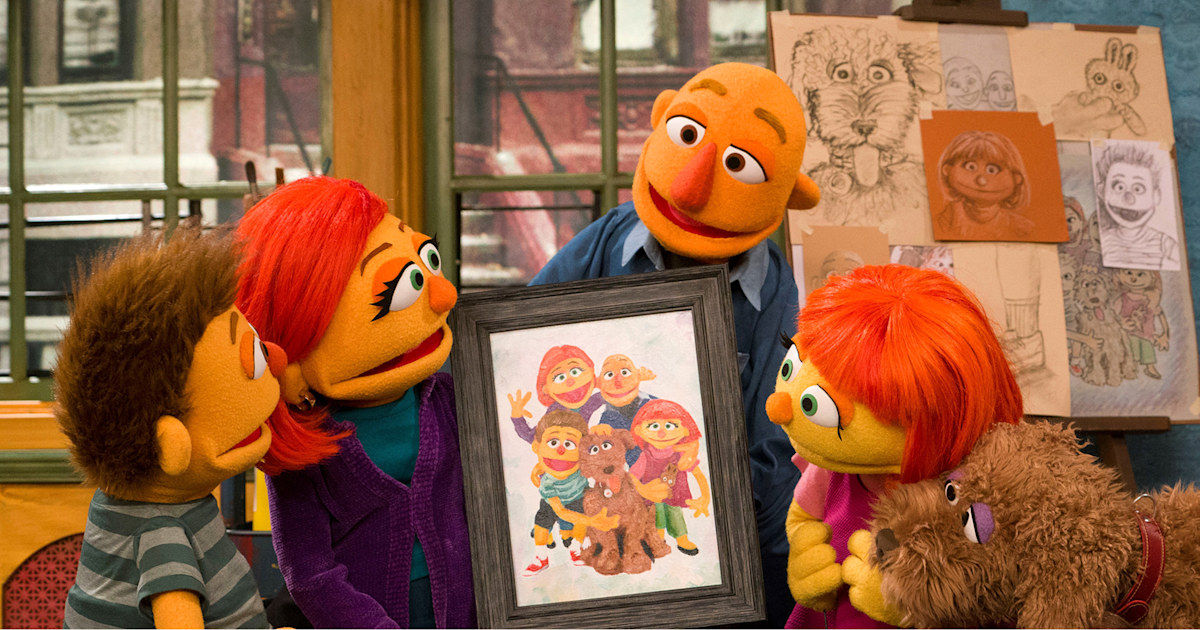 Sesame Street's muppet with autism, Julia, gets a family