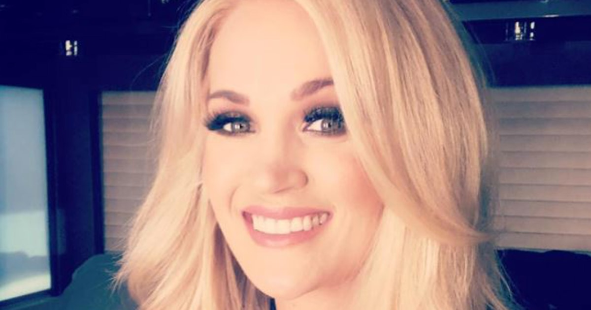 Carrie Underwood was pumping while getting glam for ACM Awards