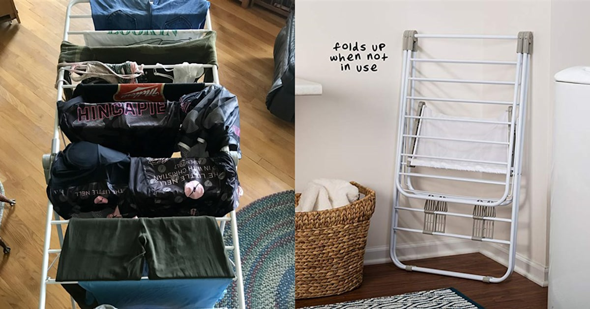 This $32 drying rack with 2,700 reviews is the MVP of laundry day