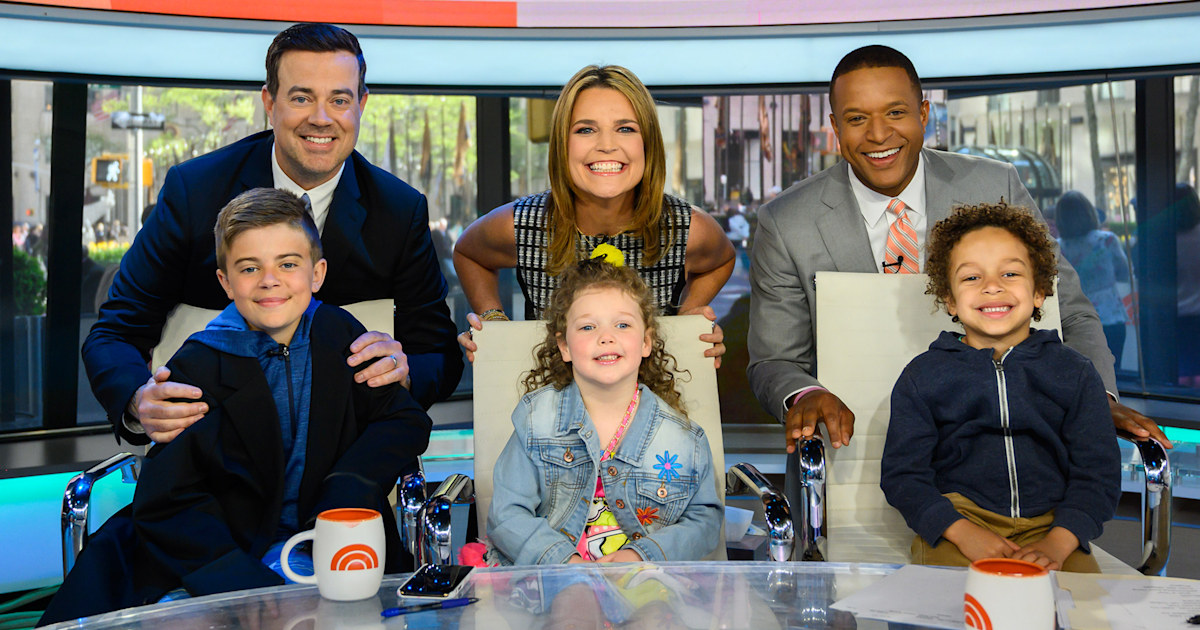 TODAY anchors' kids steal the show on Take Our Daughters and Sons to Work Day