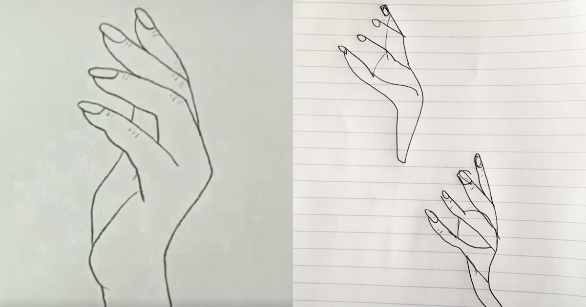 Amateur artists are trying to re-create viral sketch of hand — and