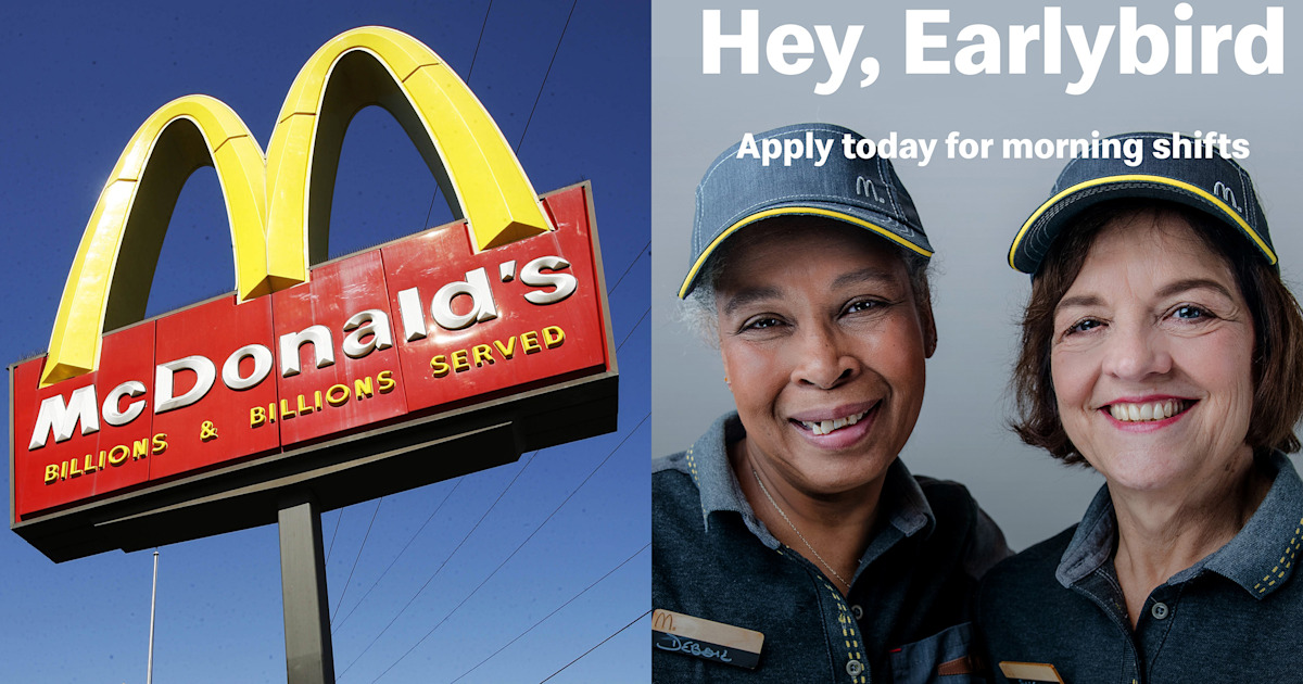 mcdonald u2019s is partnering with aarp to hire 250 000 older americans