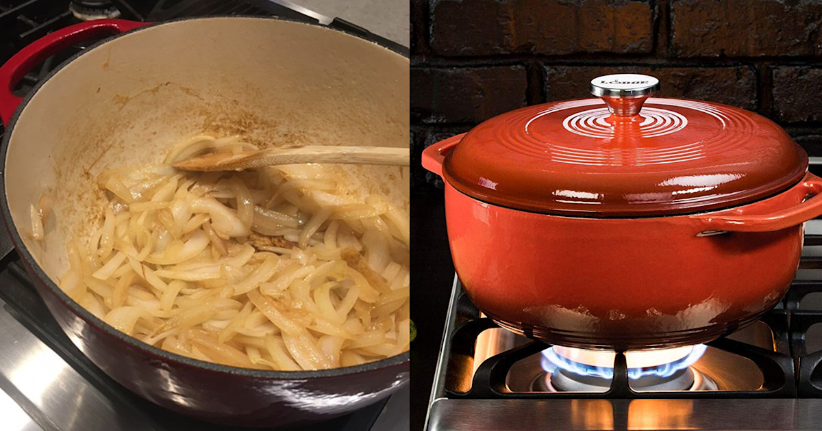 Lodge's cast iron Dutch oven is cheap—and as good as pricey models