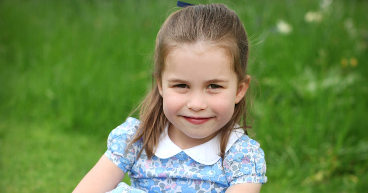 Did Princess Charlotte wear Prince George's hand-me-downs in her birthday pics?