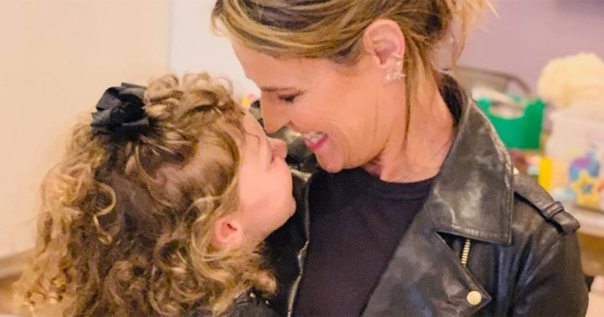 Savannah Guthrie and daughter Vale are all smiles in matching outfits