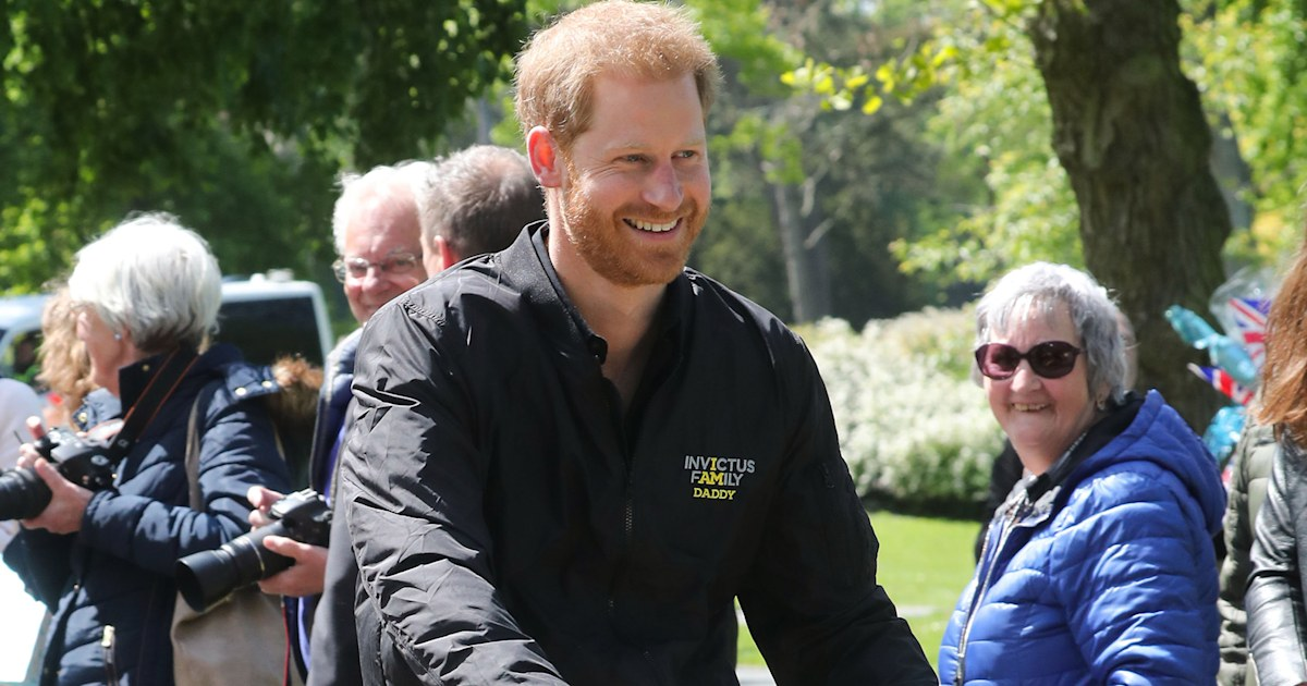 Prince Harry rocks special 'Daddy' jacket on trip to the Netherlands