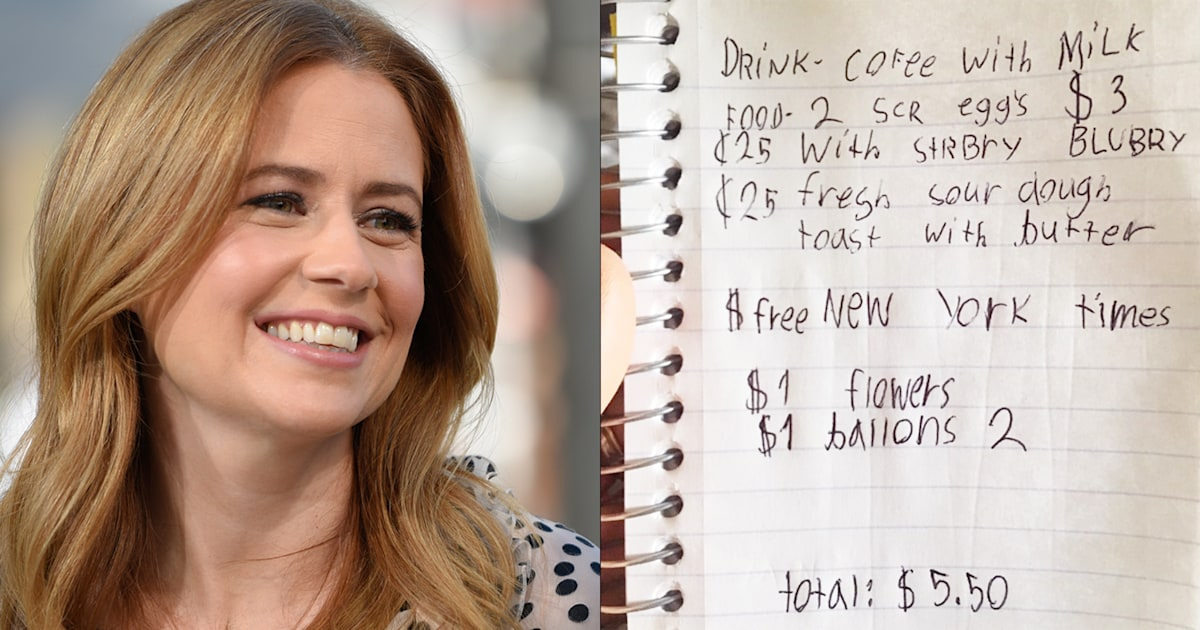 Jenna Fischer's kids gave her a bill for her Mother's Day breakfast