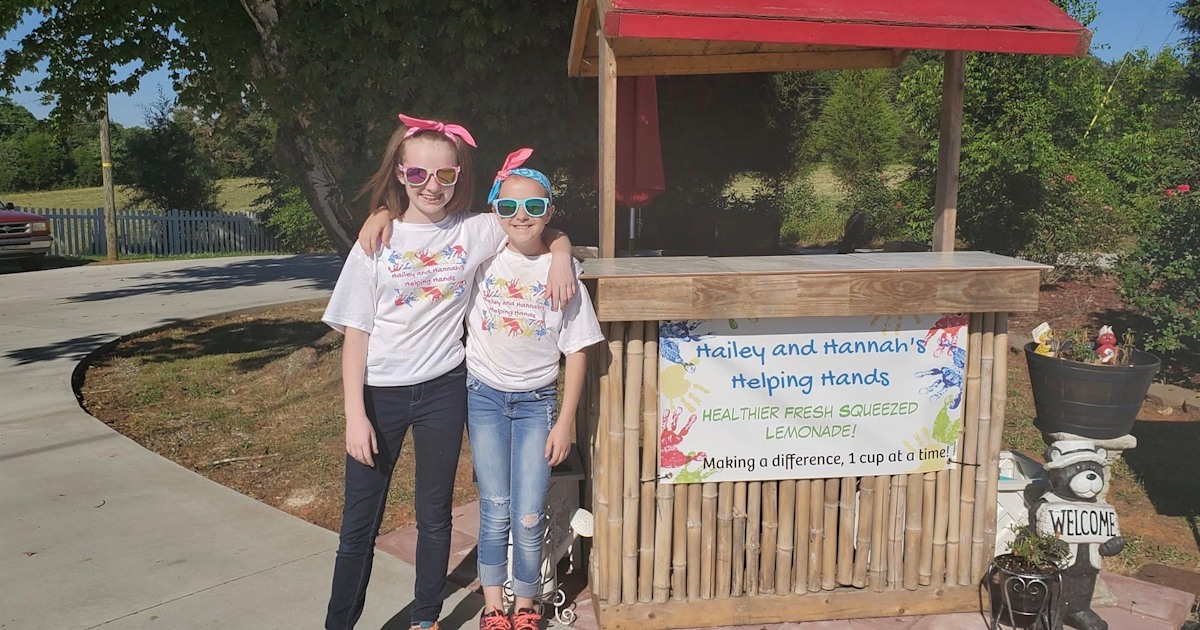 Sisters start lemonade stand to help students pay off $41,000 school lunch debt