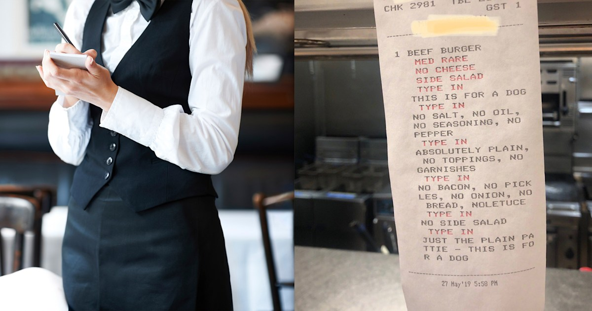 Is this the world's pickiest eater? Extra-long restaurant order goes viral