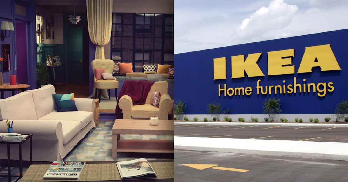 ikea brings iconic living room from 'friends' to life in