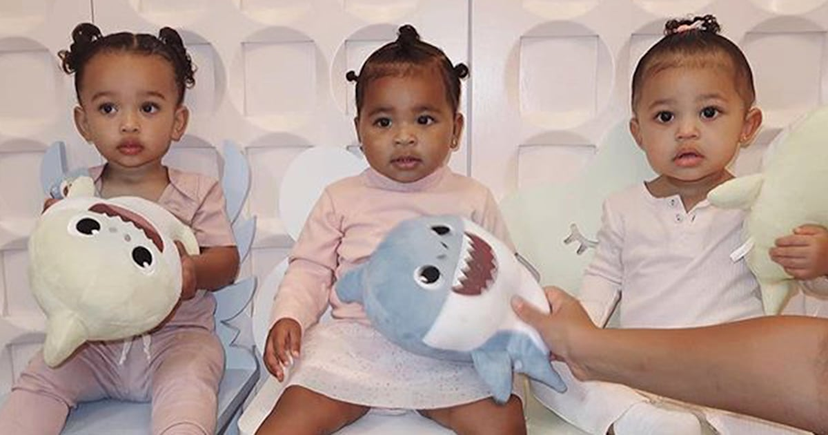 Kim Kardashian West, Kylie Jenner and Khloe Kardashian show off their 'triplets'
