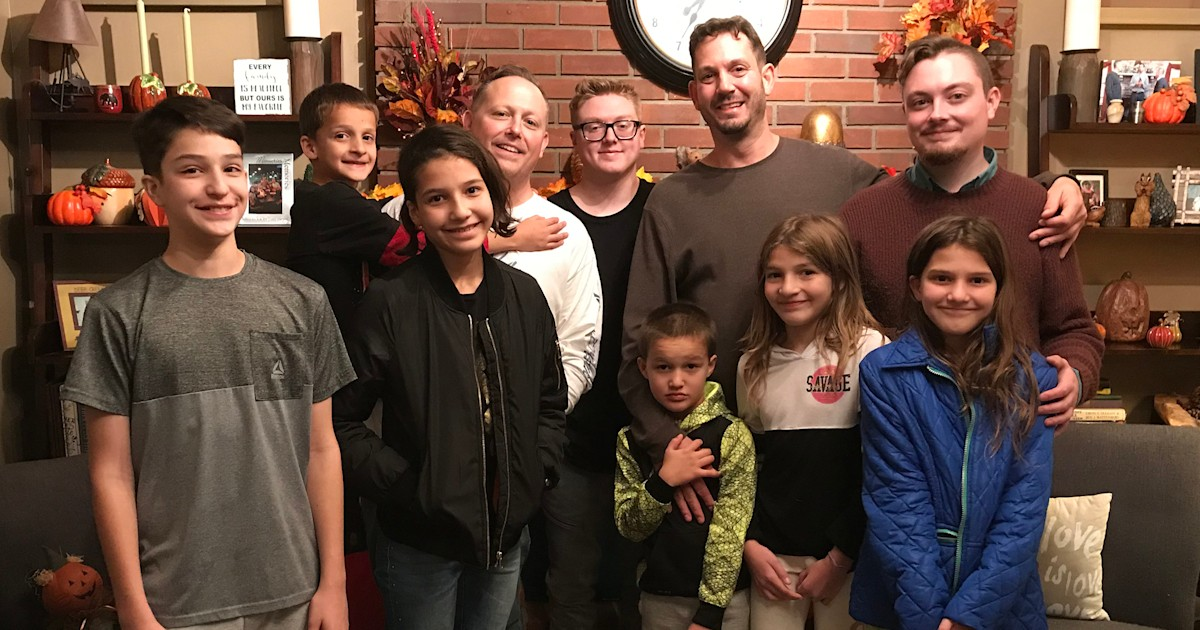Dads adopt 6 siblings who spent 5 years in foster care
